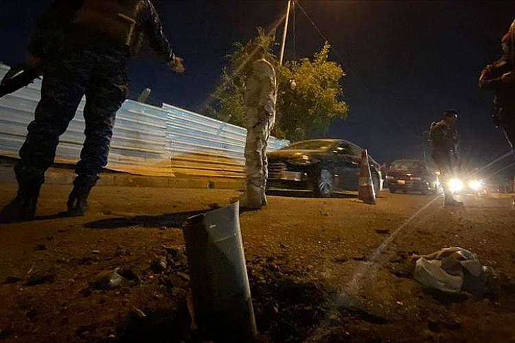 Bağdat Havalimanı yakınlarına füze saldırısı düzenlendi