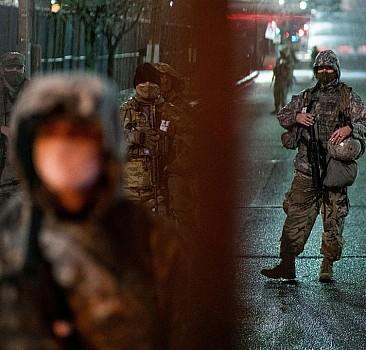 Washington'da asker sokakta