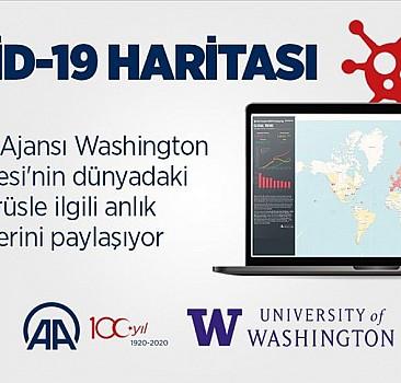 Anadolu Ajansından interaktif yeni tip koronavirüs haritası