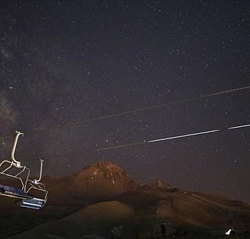 Meteor yağmurunu Erciyes Dağı ve Yedigölle'de izlediler