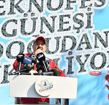 Sanayi ve Teknoloji Bakanı Varank: TEKNOFEST toplumu dönüştürme gücüne sahip olan bir etkinlik