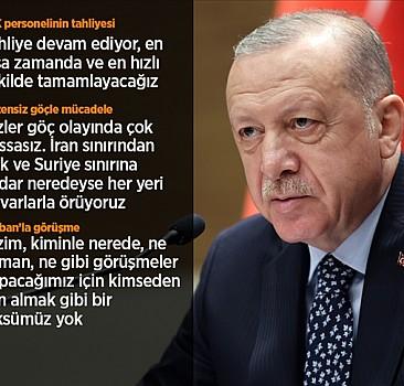 Cumhurbaşkanı Erdoğan: Taliban'ın Kabil Havalimanı'nın işletilmesi noktasında teklifleri var