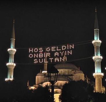 450 yıllık gelenek olan mahyalar ramazan ayında camilere asılacak