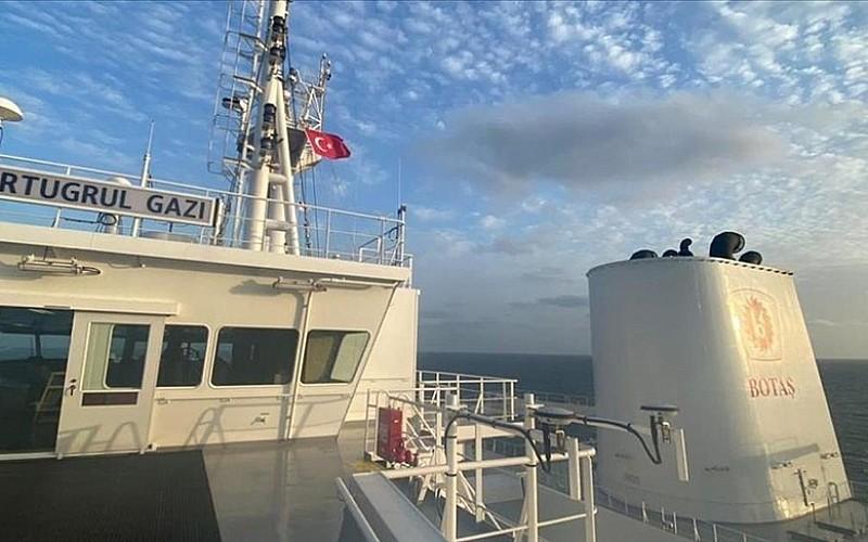 Türkiye'nin ilk yüzer LNG depolama ve gazlaştırma gemisi 'Ertuğrul Gazi'ye Türk bayrağı çekildi