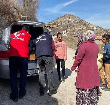 Ankara'da 40 Aileye Hijyen Paketi ve Gıda Yardımları