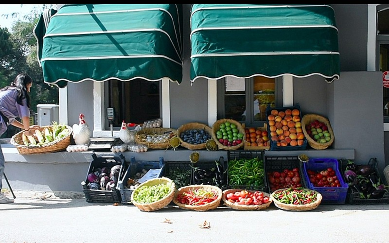 Tarım lisesinde doğal yöntemlerle 30 çeşit sebze ve meyve üretiyorlar