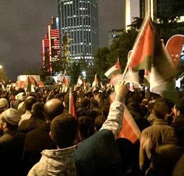 İstanbul'da terör devleti İsrail protestosu
