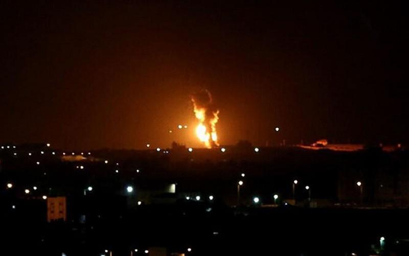 İşgal güçlerinden Gazze'de bazı hedeflere hava saldırısı
