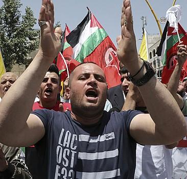 Batı Şeria'da Gazze'ye destek için yürüyüş yapıldı
