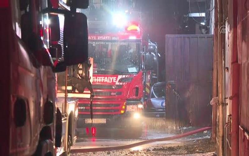 İstanbul'da atölyede çıkan yangın söndürüldü