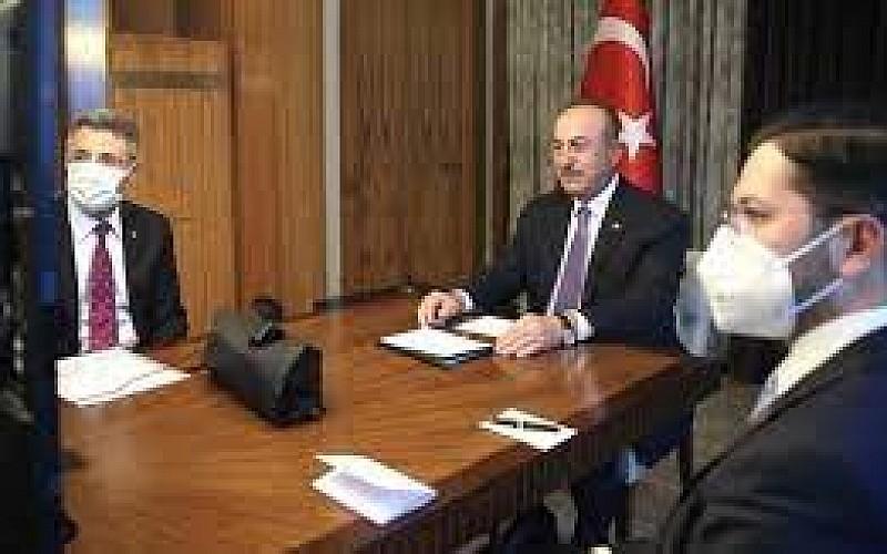 Çavuşoğlu, Almanya İçişleri Bakanı ile görüştü