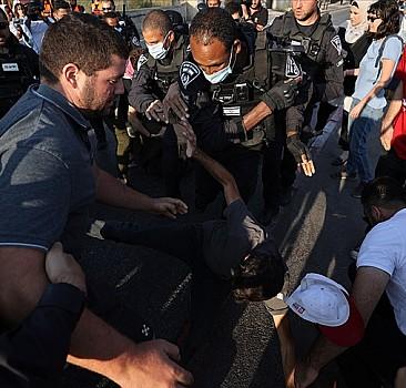 İsrail polisi Şeyh Cerrah Mahallesi'ndeki gösteriye müdahale etti