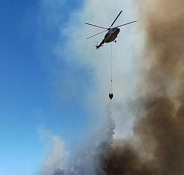 Yangın söndürme helikopterlerinin bir günü böyle geçti