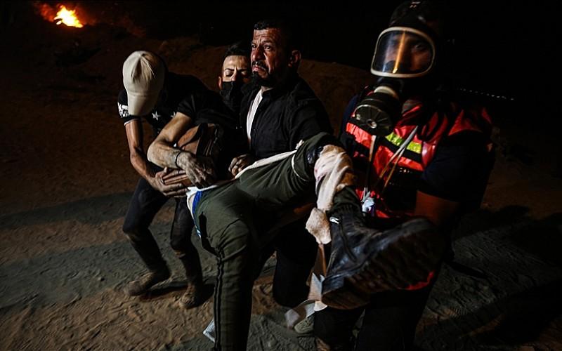 İsrail askerlerinin Gazze sınırındaki gösterilere gerçek mermiyle müdahalesinde 1 kişi hayatını kaybetti