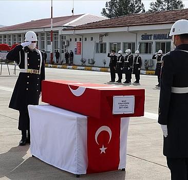 Siirt'te şehit olan asker için son görev