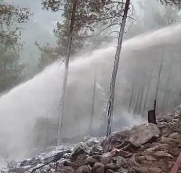 Adana Feke'de çıkan orman yangınına müdahale ediliyor