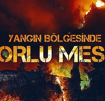 Ateş çemberinde sıcak saatler: TRT Haber ekibi alevlerin ortasında kaldı