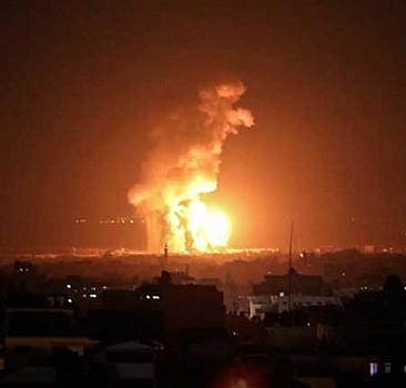 Katil İsrail, yine hava saldırısı düzenledi