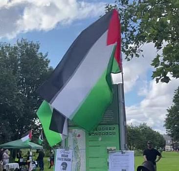 İngiltere'de 200'ün üzerinde bisikletli Filistin'e destek için pedal çevirdi