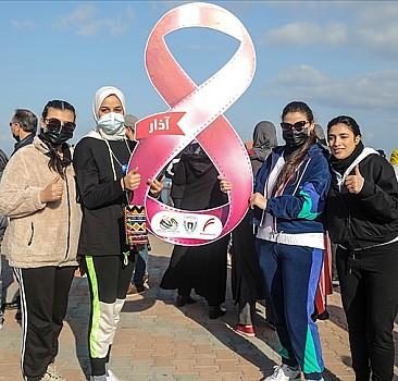 Gazze'de kadınlar Dünya Kadınlar Günü'nde 'Kendinden Emin Adımlar' sloganıyla yürüdü