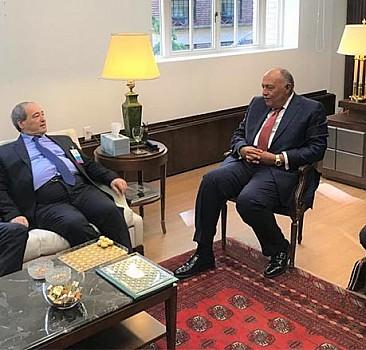 Mısır ve Suriye dışişleri bakanları, 10 yıl aradan sonra ilk kez bir araya geldi