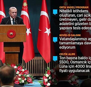 Erdoğan: Milli gelirimizi Orta Vadeli Program dönemi sonunda 1 trilyon dolar seviyesine taşıyacağız