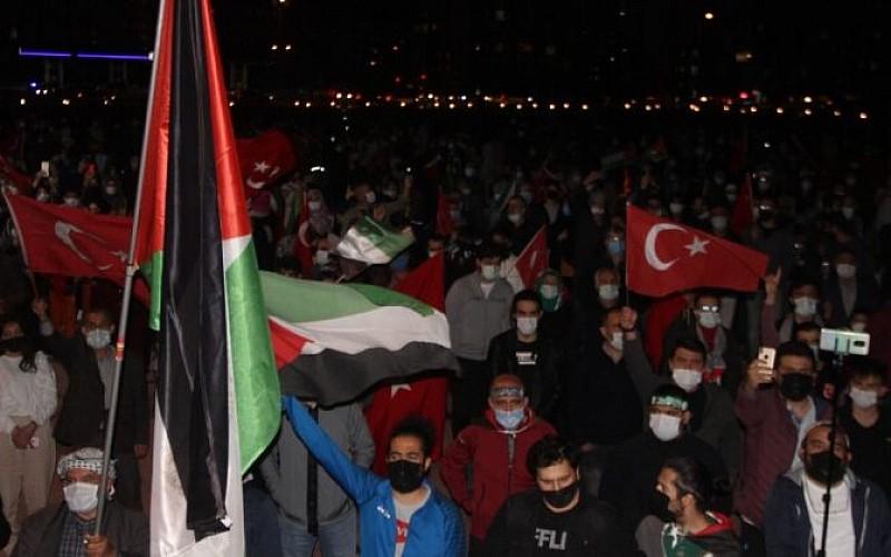 Ayasofya'da Filistin'e destek