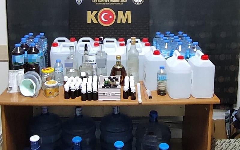 Muğla'da 175 litre sahte içki ele geçirildi