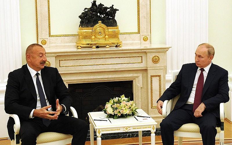 Rusya Devlet Başkanı Putin ile Azerbaycan Cumhurbaşkanı Aliyev, bölgesel sorunları görüştü