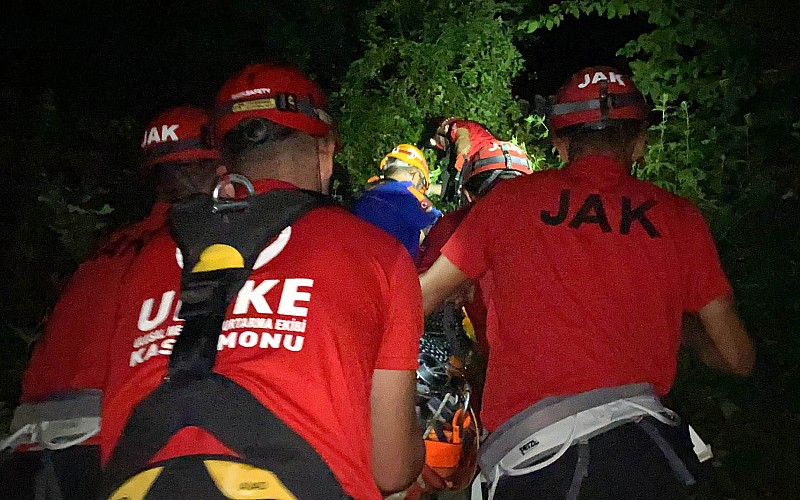Kastamonu'da uçuruma devrilen otomobilin sürücüsü hayatını kaybetti