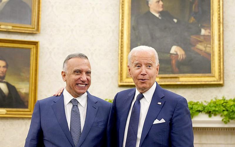 ABD Başkanı Biden, Irak Başbakanı Kazımi ile Beyaz Saray'da bir araya geldi