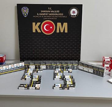 Samsun'da kaçakçılık operasyonunda bir şüpheli yakalandı