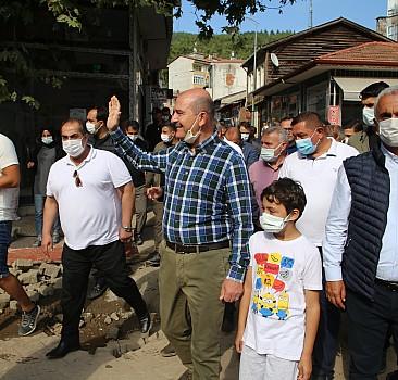 Bakan Soylu, sel bölgesi Bozkurt'ta incelemelerde bulundu