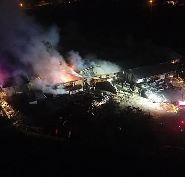 Düzce'de kömür deposunda çıkan yangın kontrol altına alındı