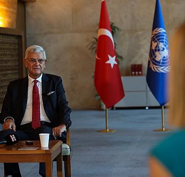 """BM Genel Kurul Başkanlığını devreden Bozkır'dan """"etkin bir BM için Genel Kurulun güçlendirilmesi"""" mesajı"""