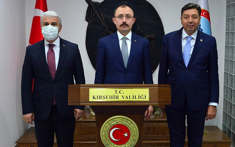 Ticaret Bakanı Mehmet Muş, Kırşehir Valiliğini ziyaret etti
