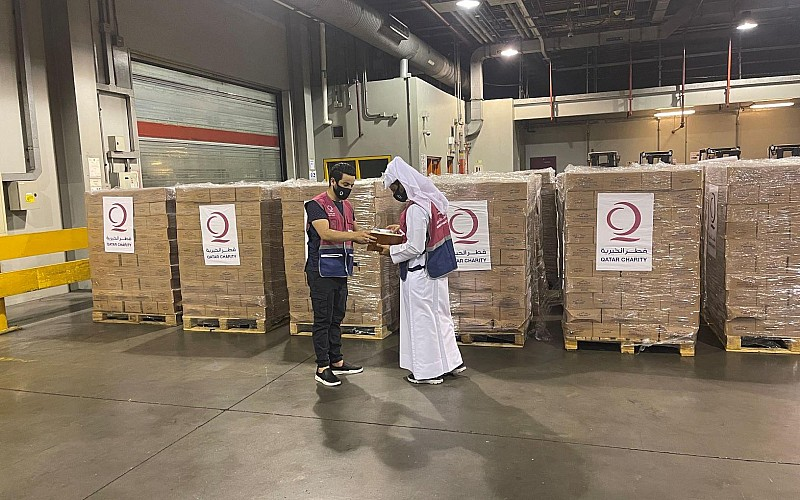 Katar'dan insani yardım taşıyan altıncı uçak Kabil'e ulaştı