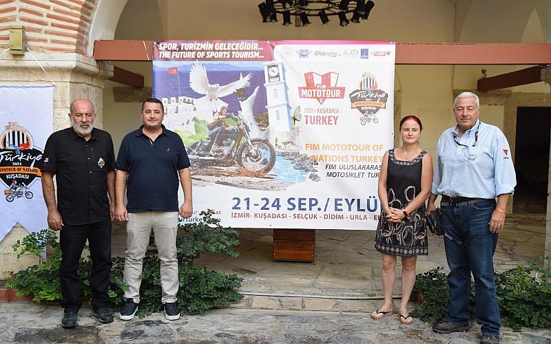 FIM Uluslararası Motosiklet Turu, yarın Kuşadası'ndan başlayacak