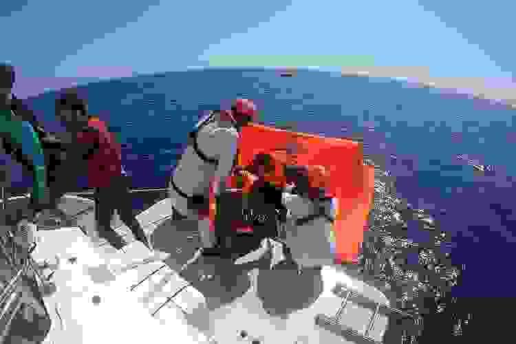 Aydın'da Türk kara sularına itilen 39 düzensiz göçmen kurtarıldı
