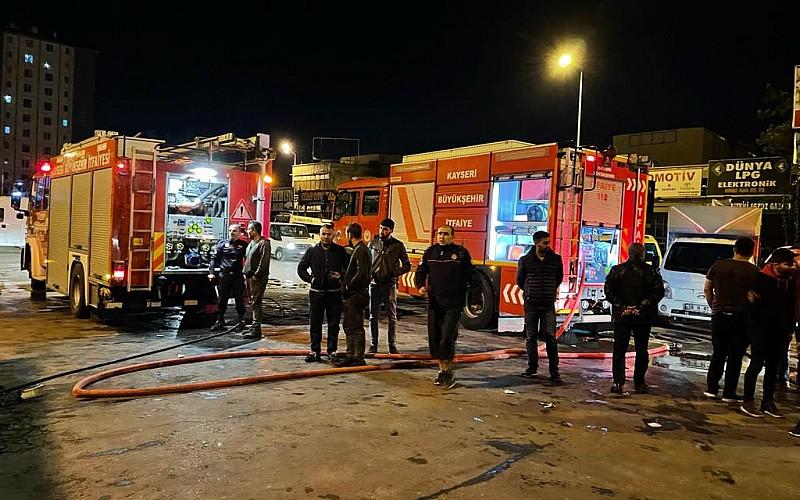 Kayseri'de iş yerinde meydana gelen patlamada bir çocuk yaralandı