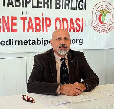 """Edirne Tabip Odası Başkanı Prof. Dr. Altun'dan """"aşı olun"""" çağrısı"""