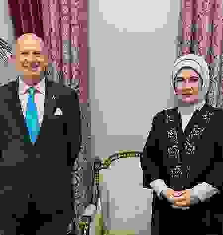 Emine Erdoğan, Birleşik Krallık Ankara Büyükelçisi Chilcott ile bir araya geldi