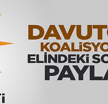Davutoğlu koalisyon için elindeki son anketi açıkladı