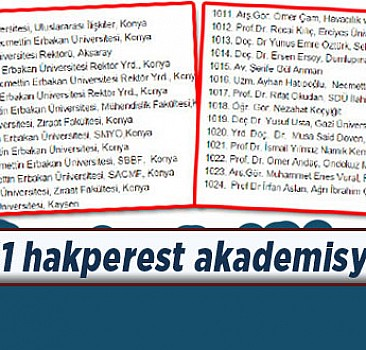 Teröre karşı 1151 vatansever akademisyen