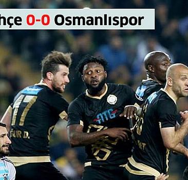 Fenerbahçe'de kritik puan kaybı