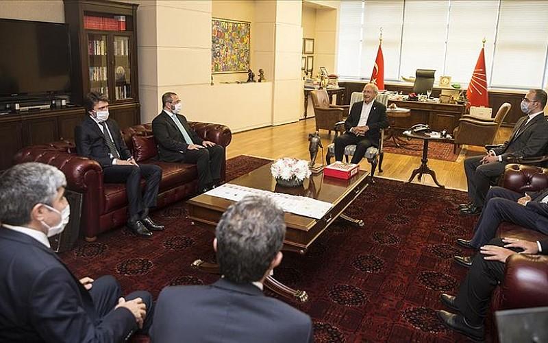 AA Yönetim Kurulu CHP Genel Başkanı Kılıçdaroğlu'nu ziyaret etti