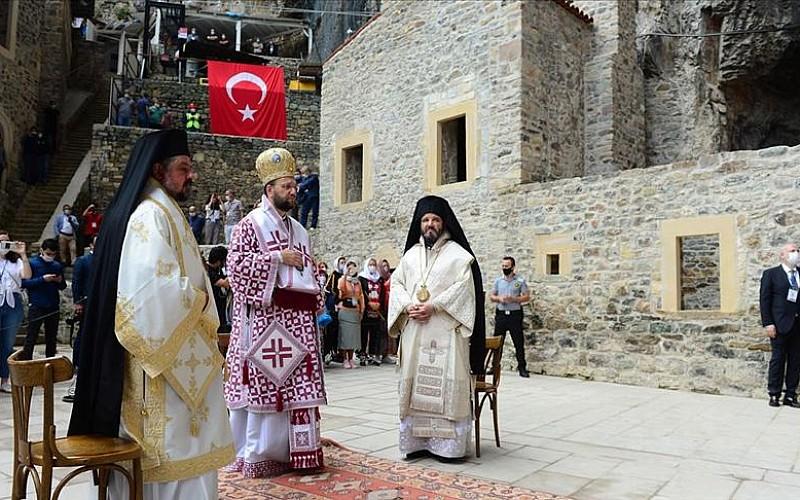 Sümela Manastırı'nda ayin başladı