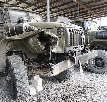 AA ekibi, Ermenistan ordusundan ele geçirilen silah, mühimmat ve araçları görüntüledi